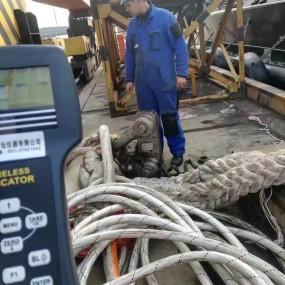 300吨 1%精度的无线防水测力计-船厂做拉力试验专用测力仪器